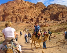 Petra on camels