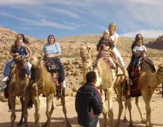 Petra on camel